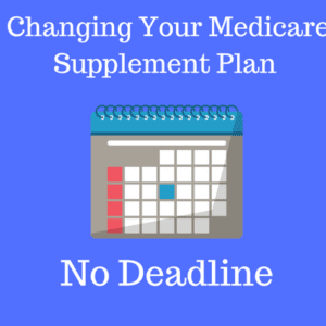 can i change my medicare supplemental plan